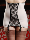 Cream 6 Strap Lace Girdle