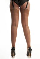 Natural Point Heel Stockings - Large