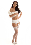 White Suspender Belt