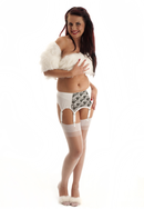 White & Black Suspender Belt